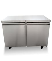 "Universal TUC48F 48"" Undercounter Freezer Two Solid Door"