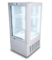 White Countertop Display Refrigerator - 4 View, 2.5 cu. ft.