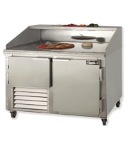 "Leader DR48-M - 48"" Refrigerated Pizza Dough Retarder Marble Top Table"