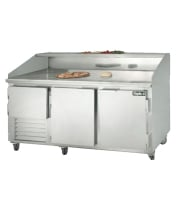 "Leader DR72-M - 72"" Refrigerated Pizza Dough Retarder Marble Top Table"