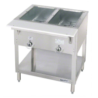 Duke Aerohot Electric Hot Food Table - Stationary 2 Wells, 30-3/8