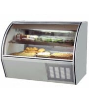 "Leader ERCD60SC - 60"" Curved Glass Deli Display Case - Counter Height"