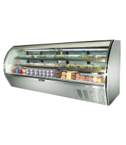 "Leader NRHD118SC - 118"" Curved Glass Deli Display Case - High Volume"