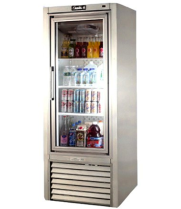 "Leader PS30 - 30"" Swinging Glass Door Reach In Refrigerator"