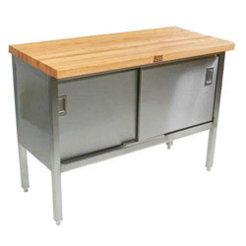 John Boos Etns01 48 X 24 Butcher Block Storage Cabinet Work Table