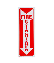 "Universal  E1101  - Fire Extinguisher Adhesive Label - 4"" x 12"""