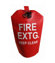 "Universal  472I4104 - Fire Extinguisher Cover With Window 16"" x 27"" - Fits 15 to 30# Extinguishers"
