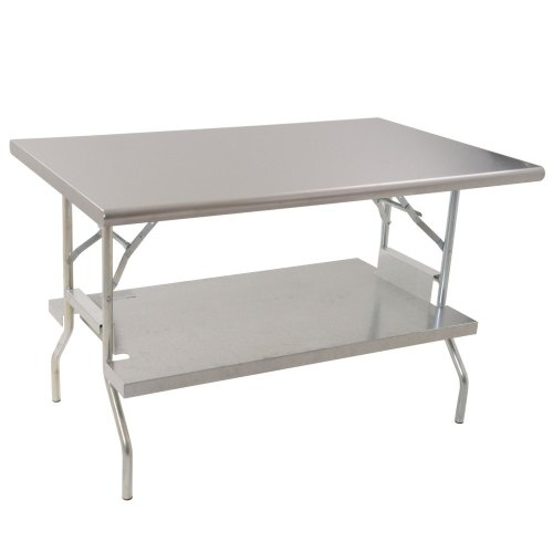 Folding Stainless Steel Work Table With Under Shelf X - Large stainless steel work table
