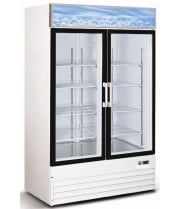"Universal G1.2BM2F 54"" Swing Glass Door Reach In Refrigerator Merchandiser"