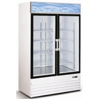 "54"" Swing Glass Door Reach In Refrigerator Merchandiser"