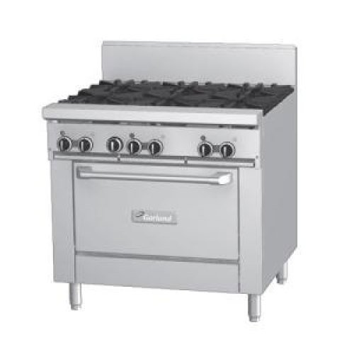 Garland Gfe36 6r 6 Burner 36 Gas Range With Flame Failure Protection And Standard Oven Electric Spark Ignition Jpg
