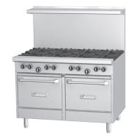 Garland G48-8RS - 8 Burner Gas Range - (1) Space Saver Oven - (1) Storage Compartment