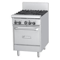 Garland GF24-4L - 4 Burner Gas Range - (1) Space Saver Oven