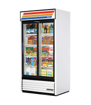 "True GDM-33 - 39"" Glass Door Reach In Refrigerator"