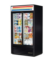 "True GDM-37 - 43"" Glass Door Reach In Refrigerator"