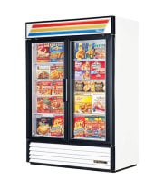 "True GDM-49F - 54"" Glass Door Reach In Freezer"