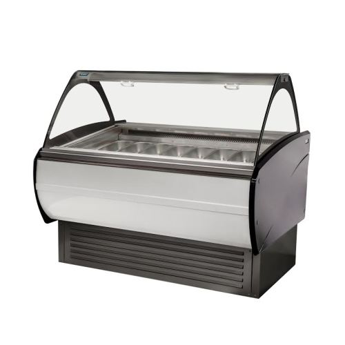 Universal 16 Pan Gelato Display Case Merchandiser Dipping Cabinet
