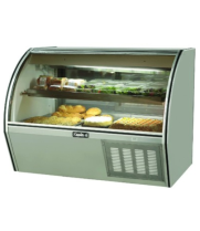 "Leader NRCD72SC - 72"" Curved Glass Deli Display Case - Counter Height"