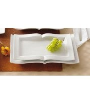 "C.A.C. China GBK-12 Goldbook Book-Shaped China Serving Platter 10-1/4"" - (2 Dozen per Case)"