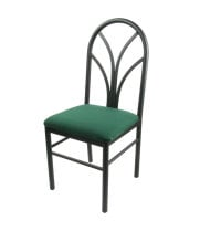 Universal 164CDINEBKGR - Green 4 Spoke Restaurant Dining Room Chair