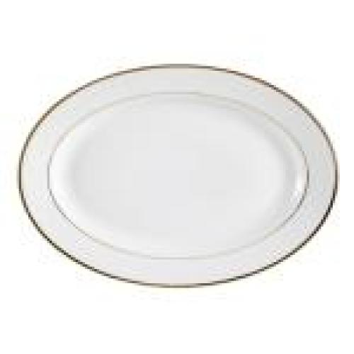 C.A.C. China GRY-14 - Golden Royal Platter - (1 Dozen per Case)