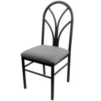 Universal 164CDINEBKGY - Gray 4 Spoke Restaurant Dining Room Chair