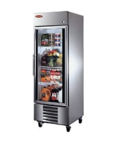 "Universal SW30SC - 30"" Swinging Glass Door Reach In Refrigerator"