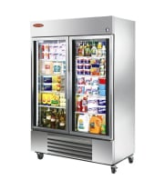 "Universal SW54SC - 54"" Glass Door Reach In Refrigerator"
