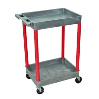 Luxor - GYSTC11RD - Plastic 2 Shelf Utility Tub Cart - Gray