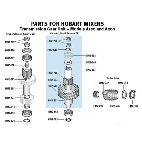 Hobart - HM2-321 - Plug - Attachment Hub for Hobart Mixers - A200