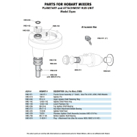 Hobart - HM3-335 - Agitator Shaft Seal Planetary and Attachment Hub Unit for Model D300/Parts for Hobart Mixers