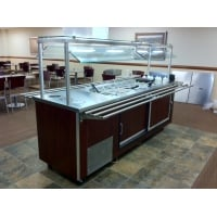 Universal Coolers RBT7SC - 6 Well Refrigerated Buffet Table - Cold Food