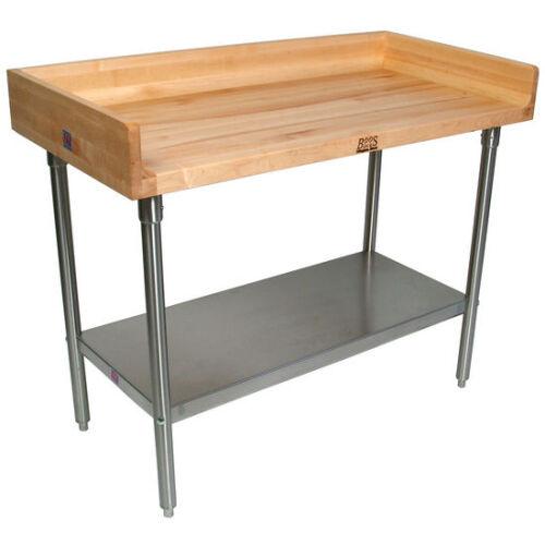 John Boos Dss01 48 X 24 Butcher Block Work Table W Maple