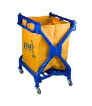 universal 274lcxfbl lavex 10 bushel commercial rolling laundry trash cart - Laundry Carts