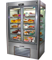 "Leader LS72DS - 72"" Sliding Glass Door Refrigerator - Four View"