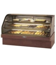 "Leader MCB57 - 57"" Curved Glass Refrigerated Bakery Display Case - Marble"