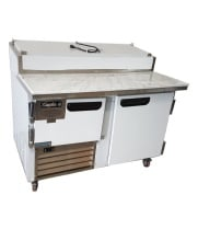 "Leader PT48-M - 48"" Pizza Prep Table - Marble Top"