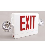 Universal 695C2RWRC - Emergency Exit Sign with LED Emergency Lighting, Battery Backup and Remote Capability (120V)