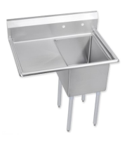 "Universal DD2222-1L - 49"" Deep Draw One Compartment Sink W/ Left Drainboard"