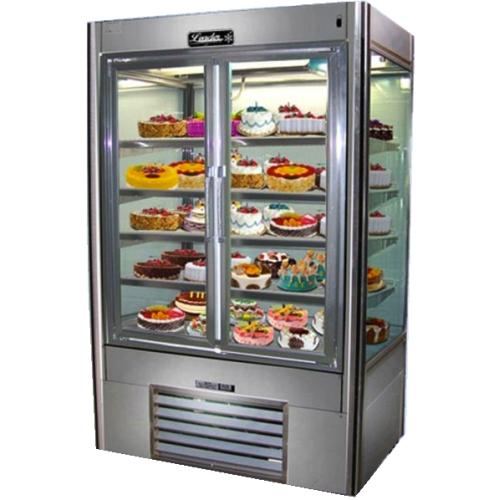 Leader Nps60ds 60 Swinging Glass Door Refrigerator Four View