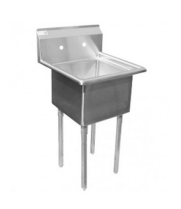 "Universal DD1818-1 - 24"" One Compartment Deep Draw Sink - NSF Certified"