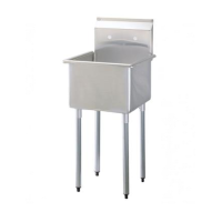 Universal SK2118-1 - One Compartment Utility Sink - 21