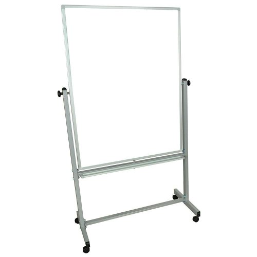 Universal MB3648WW - Luxor Double-Sided Magnetic Whiteboard w/ Aluminum Frame - Stand
