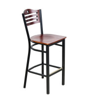 Universal 164BBSTROMAH - Mahogany Finish Bar Height Bistro Chair - Eagle Back
