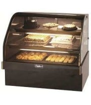 "Leader MCB48-D - 48"" Curved Glass Dry Bakery Display Case - Marble"
