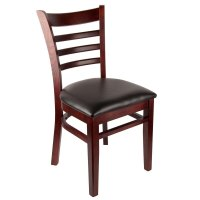 Universal 164CLADDRMAH - Mahogany Finish Wooden Ladder Back Chair with 1 1/2