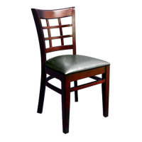 Universal 164CWINBKMAH - Mahogany Wooden Window Back Chair with 1 1/2