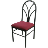 Universal 164CDINEBKMR - Maroon 4 Spoke Restaurant Dining Room Chair