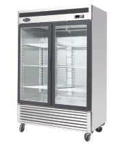 "Atosa MCF8707 - 54"" Glass Door Refrigerator - 2 Doors"