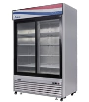 "Atosa MCF8709 - 54"" Glass Door Refrigerator - 2 Sliding Doors"